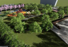 Yeşil alan da var, futbol sahası da