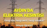 Aydın'da Elektrik Kesintisi