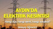 Aydın Elektrik Kesintisi – Son Dakika