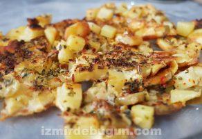 Fırında Kaşarlı Patates