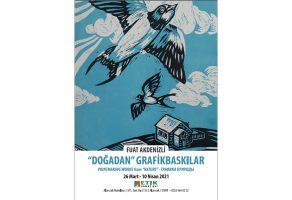 """Fuat Akdenizli'nin """"Doğadan"""" Grafikbaskılar sergisi Etik Sanat Evi'nde"""