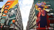 İzmir'in duvarları renklendi