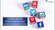 Sosyal Medya Türkiye'nin İkinci Haber Kaynağı Oldu