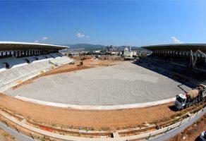 Yapımı süren Doğanlar Stadı'nda çıta yükseldi